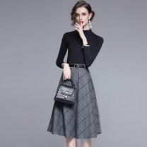 Fashion suit Autumn 2021 S,M,L,XL,XXL,XXXL Grey Plaid suit, brown plaid suit, black suit, apricot suit, grey plaid skirt, brown plaid skirt, black skirt TZ6897 96% and above
