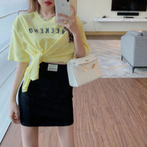 Fashion suit Summer 2021 S,M,L Yellow irregular top 7700, white irregular top 7700, black skirt 7701, gray skirt 7701 18-25 years old Other / other 31% (inclusive) - 50% (inclusive) cotton
