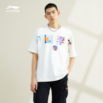 Sports T-shirt Ling / Li Ning L m s XL XS 3XL XXL (adult) Short sleeve male three hundred and ninety-nine Crew neck AHSR071-1 Off white black easy nothing Spring 2021 letter Sports & Leisure cotton yes