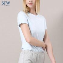 Sling / vest / T-shirt 160(M) 165(L) 170(XL) 175(XXL) female STW.SOTOWELL Solid color cotton summer One piece Cotton 47.5% modal fiber 47.5% polyurethane elastic fiber 5% Summer of 2018 Pure e-commerce (online only)