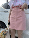 skirt Spring 2021 S. M, model in S Khaki, pink commute High waist A-line skirt Solid color Type A S8591 slim skirt (4.6) 31% (inclusive) - 50% (inclusive) Korean version
