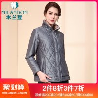 Middle aged and old women's wear Winter of 2018 Silver grey dark purple black M L XL 2XL 3XL 4XL 5XL thickening WJ450025 Milandon / milandon polyester Polyamide (nylon) 68.7% polyester 31.3% 31% (inclusive) - 50% (inclusive) Pure e-commerce (online only)