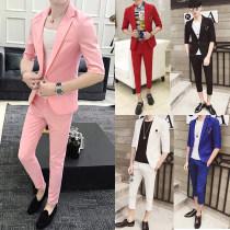 Suit Youth fashion Others Pink suit white suit black suit red suit royal blue suit grey suit white red grey black pink royal blue 85jin - 95jin m 100jin - 110jin L 115jin - 125jin XL 130jin - 138jin XXL 140jin - 145jin 3XL 150jin - 155jin 4XL 160jin - 170jin 5XL thin Back middle slit Flat lapel tide