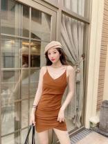 Dress Summer 2021 Black, brown Average size