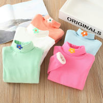 T-shirt Blue, green, rose, white, orange Other / other 90 = 7, 100 = 9, 110 = 11, 120 = 13, 130 = 15 female winter Long sleeves High collar leisure time There are models in the real shooting nothing cotton Solid color Cotton 95% polyurethane elastic fiber (spandex) 5% Class B other