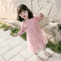 Dress Light blue, pink female Other / other 100 = 7, 110 = 9, 120 = 11, 130 = 13, 135 = 15 Cotton 100% spring and autumn leisure time Long sleeves other cotton A-line skirt Class B 2 years old, 3 years old, 4 years old, 5 years old, 6 years old, 7 years old, 8 years old Chinese Mainland