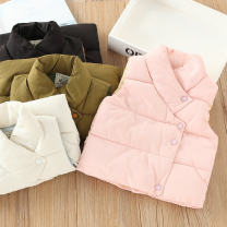 Vest neutral 90 = 7, 100 = 9, 110 = 11, 120 = 13, 130 = 15 Other / other winter thickening No model Single breasted leisure time cotton Solid color Silk floss Three, four, five, six, seven, eight