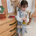 Dress White shirt, plaid vest skirt female Other / other 100 = 7, 110 = 9, 120 = 11, 130 = 13, 135 = 15 Other 100% spring and autumn Korean version Skirt / vest lattice Artificial colored cotton Lotus leaf edge Class B Three, four, five, six, seven, eight