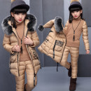 suit Other / other The recommended height is about 110cm for Size 120, 120cm for Size 130, 130cm for size 140, 140cm for size 150 and 150cm for size 160 female winter Korean version Long sleeve + pants 3 pieces thickening There are models in the real shooting Socket nothing other other children