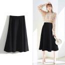 skirt Spring 2021 S. M, l, LL (for 83-88cm waist), 3L (for 89-93cm waist) Black, waist 92, hip 112, size 3L commute