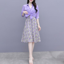 Fashion suit Duoyi / flower 5.12-3 51% (inclusive) - 70% (inclusive) polyester fiber Summer 2020 Picture color: 3511 purple, 3511 pink, 3511 yellow, 537 pink, 537 green S,M,L,XL,XXL,XXXL