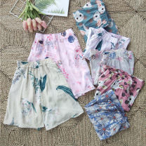 Pajamas / housewear Other / other Pink rabbit, green rabbit, pink cherry rabbit, Yami cherry rabbit, blue chrysanthemum, pink leaves, beige leaves 160(M),165(L),170(XL) female Three minutes of pants Leisure home Sweet Plants and flowers summer rubber string middle-waisted youth cotton More than 95%