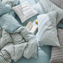 Bedding Set / four piece set / multi piece set 1.8m bed four piece set suitable for 200x230 quilt core Lemon yellow Fitted sheet set