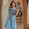 Dress Summer 2020 blue M, L puff sleeve