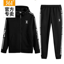 Sports suit 361° female Long sleeves Hood trousers Cardigan Spring of 2019 Sports & Leisure hygroscopic and sweat releasing Sports life Cotton polyester Brand logo City Park