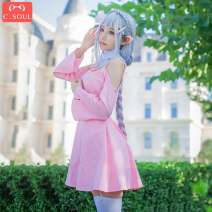 Cosplay women's wear skirt goods in stock Over 8 years old Leah cos, wig, shoes (remark size) Animation, games L,XL,XXL C.SOUL Chinese Mainland Lovely wind, Maid Dress, Yu Jie fan Leah's pink dress