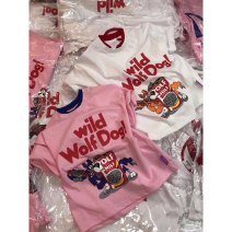 T-shirt female Other / other 3 months other other White, pink 100cm,110cm,120cm,130cm,140cm,150cm,160cm