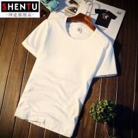 T-shirt Youth fashion white routine L Gentry Road . .. .T137 Cotton 95.5% polyurethane elastic fiber (spandex) 4.5% Summer 2017