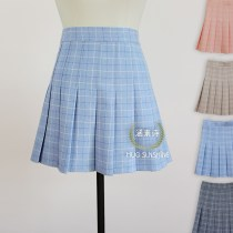 skirt Winter 2016 XS S M L XL 2XL 3XL 4XL [pink grid] A-line skirt [light blue grid] A-line skirt [Khaki grid] A-line skirt [gray grid] A-line skirt