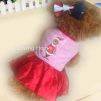 Pet clothing / raincoat currency Dress XS back length 16, bust 27, s back length 21, bust 32, m back length 30, bust 40, l back length 40, bust 54 Loving house princess Pink skirt, red skirt, green skirt