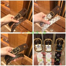 Belt / belt / chain top layer leather M9744 M9782 M9584 M9585 M9586 female belt literature Single loop Middle aged youth Pin buckle Frosting 2.5cm copper Louis Vuitton / Louis Vuitton 80cm 85cm 90cm 95cm 100cm 105cm
