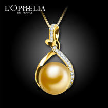 Neckwear Seawater pearl Pendants circular Payment after re inspection shop warranty Gold / gold inlay Lophilia / olanvia J-090 Autumn 2016 yes Same model in shopping mall (sold online and offline) No treatment