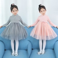 Dress Grey (thickened) pink (thickened) Other / other female 100cm 110cm 120cm 130cm 140cm Cotton 90% other 10% winter other Long sleeves other cotton