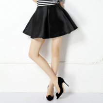 skirt Autumn 2014 S,M,L,XL Mercerized white, mercerized black Short skirt Versatile A-line skirt Solid color CA185 More than 95% other SYU SYU HAN polyester fiber