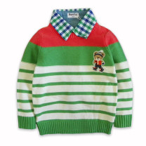 Sweater / sweater 100 yards, please refer to measurement cotton male green PON IN PON Britain Socket Crew neck Ordinary wool stripe Cotton 100% Four, three