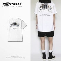 T-shirt Youth fashion White, black routine S,M,L,XL,2XL,3XL HEYBIG Short sleeve Crew neck standard daily summer THDX1623XX Cotton 100% teenagers routine 2017 other cotton washing More than 95%