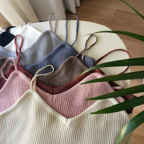 Vest sling Spring 2017 White, gray, blue, black, apricot, khaki, pink, orange One size fits all, XXXs pre-sale singleton  camisole other 18-24 years old 31% (inclusive) - 50% (inclusive) other Other / other