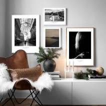 Modern decorative painting a Collage White wood mixed frame combination (see cover picture) 30 * 40cm frame