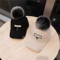 Hat Corduroy Beige pink red Khaki grey black Adjustable Baseball cap Autumn and winter female Sweet and lovely Young lovers Gaoding Short eaves