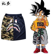 Casual pants Ramo / rambling Youth fashion Camouflage shark Shorts Blue M routine Micro bomb 17A195 Polyester 67.4% cotton 27.9% others 4.7% Spring 2017