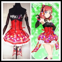 Cosplay women's wear skirt Customized Over 8 years old Guoguo suit, South bird suit, Dongtiaoxi suit, Zhenji suit, Huayang suit, Nicole suit, Huili suit, Haiwei suit, skirt (LED light) Animation, games L,M,S,XL Butterfly House Japan Love Live! Masuki shimuno clothing