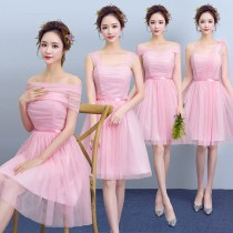 Dress / evening wear Weddings, adulthood parties, company annual meetings, daily appointments Large size 100-125 Jin, average size 78-100 Jin Korean version Short skirt High waist Winter 2016 Fluffy skirt One shoulder zipper Gauze brocade 18-25 years old Five hundred and eighty-eight Sleeveless other