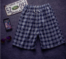Casual pants Others Youth fashion Multiple checks - random - see description One size fits all - waistline below 3 feet - elastic, 2 pieces for shooting, 1 piece for no hair, Shorts (up to knee) sandy beach Straight cylinder