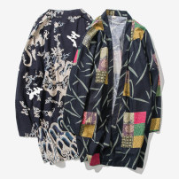 Windbreaker Others Youth fashion M,L,XL,2XL,3XL,4XL,5XL No buckle Medium length easy Other leisure Four seasons youth other Chinese style other No iron treatment Cotton and hemp other other