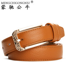 Belt / belt / chain top layer leather female belt Sweet Single loop Youth, middle age Pin buckle other soft surface 2.8cm alloy alone Munch bull M-144