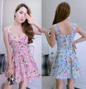 Dress Autumn 2020 Light blue, pink Average size Short skirt singleton  Sleeveless Sweet High waist Decor zipper Princess Dress 18-24 years old Type A 31% (inclusive) - 50% (inclusive) princess