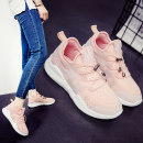 Low top shoes three hundred and fifty-three billion six hundred and thirty-seven million three hundred and eighty-three thousand nine hundred and forty Snow Cat 8861 pink 8861 white 8861 black Round head Flat heel PU Deep mouth Low heel (1-3cm) Netting Summer 2017 Trochanter Korean version Net shoes