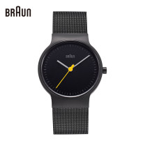 Watch in Europe and America Mineral reinforced glass mirror National joint guarantee stainless steel Germany stainless steel quartz movement  Lovers Watch 30m domestic waterproof Braun / Braun Retro circular Pointer type Pin buckle ordinary ordinary Spring and summer 2017 yes BN0211BKMHG