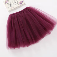 skirt 80cm,90cm,100cm,110cm,120cm,130cm,140cm,150cm,160cm Other / other female Other 100% spring and autumn skirt princess Pleats polyester fiber 1601A