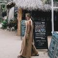 Casual pants Picture color SMLXL Summer 2017 Ninth pants Wide leg pants Natural waist commute routine HAO76 Enchantment of imperial concubines Korean version Cotton 50% LINEN 50% Pure e-commerce (online only)
