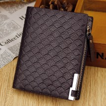 wallet PU Short wallet Skin's protection Black horizontal light coffee horizontal dark coffee horizontal black light brown dark brown brand new male Business/OL Exposure youth 1 fold Pure color Vertical section Other banknotes with photo holder, small change, zipper holder, id card, key position