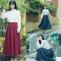 Dress Summer 2015 S,M,L,XL,2XL longuette Two piece set Long sleeves commute 18-24 years old lady Button 51% (inclusive) - 70% (inclusive) cotton