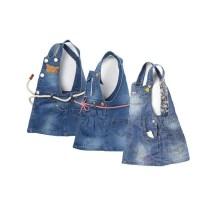 Dress Leather rope waistband, hemp rope waistband, cartoon embroidery female Other / other Yi Biao (2-3), Yi Biao (3-4), Yi Biao (4-5), Yi Biao (5-6), Yi Biao (6-7), Yi Biao (7-8) Cotton 100% summer Versatile Strapless skirt other Cotton denim Denim skirt