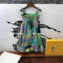 Dress Graph color female Other / other 90cm,100cm,110cm,120cm,130cm,140cm,150cm Cotton 100% summer Korean version Skirt / vest Broken flowers cotton A-line skirt Three, four, five, six, seven, eight, nine