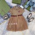 Dress khaki female 100cm,110cm,120cm,130cm,140cm,150cm Cotton 100% summer leisure time printing cotton A-line skirt Class A Seven, eight, three, six, two, eleven, five, four, ten, nine Chinese Mainland