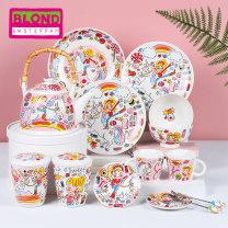 Western food tableware set Mascot & teacup color box